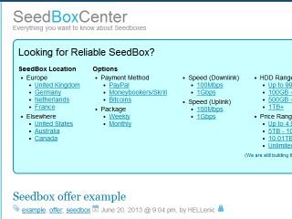 SeedBoxCenter Offer